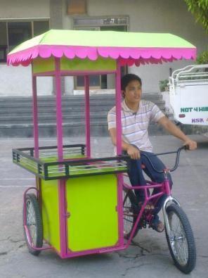 Hot Dog Bicycle Food Cart