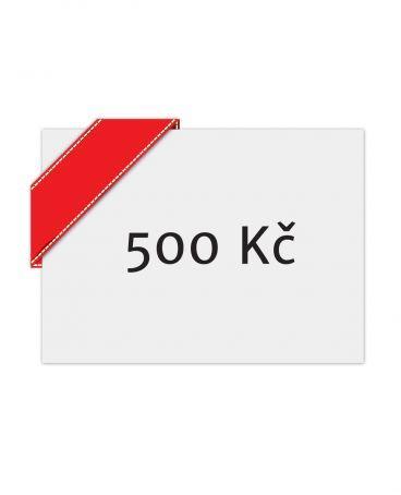 Dárkový poukaz 500 Poukaz | Croissart.cz - Umění na triku