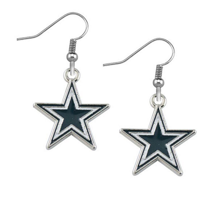 Dallas Cowboys Star Drop Earrings