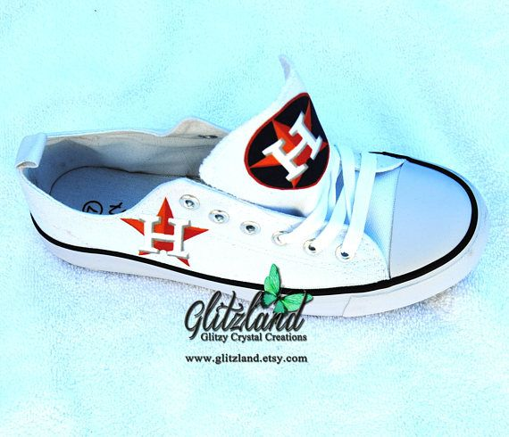 e64bbcf5ab598 CONVERSE Chuck Taylor Low Top With Houston Astros Logo Customized ...