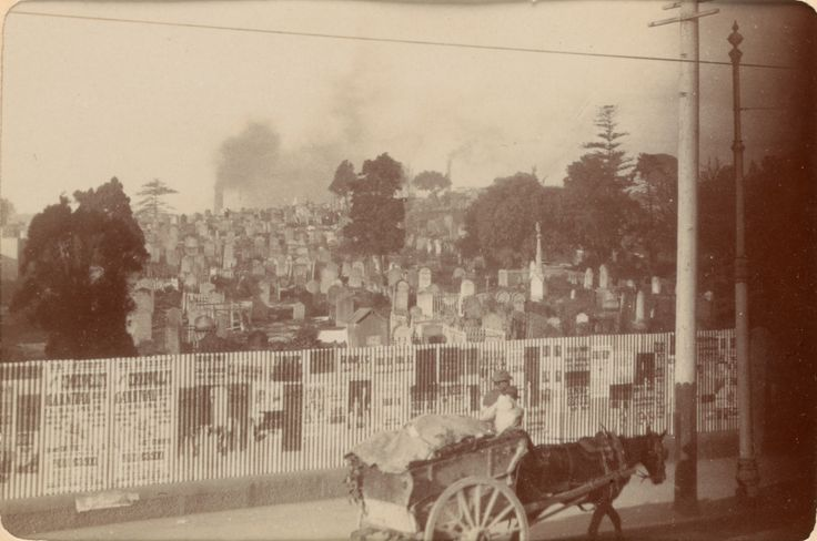 Old cemetery Devonshire Street c1900 Courtesy State Library of Victoria (H13953 p15 (detail))