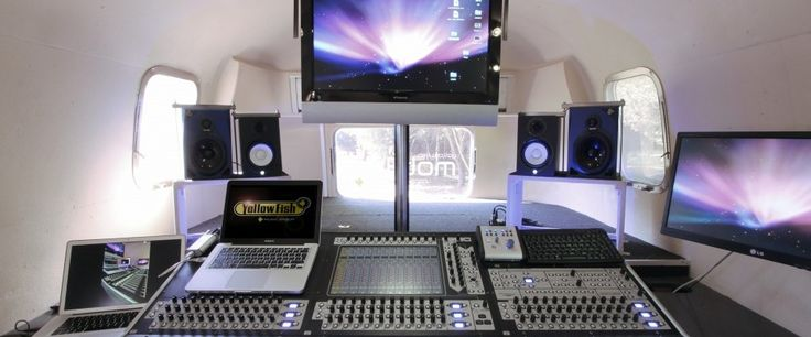 Within an Airstream trailer, our mobile recording studio