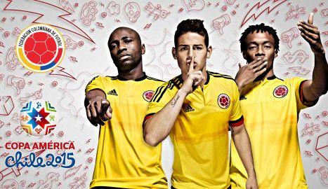 Colombia 2015 home Copa America Kits