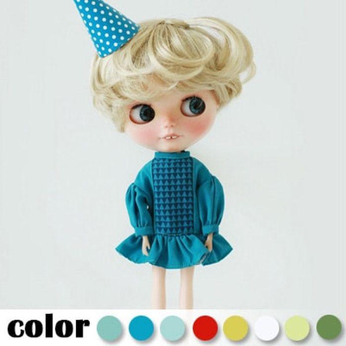 【全8色】ブライスアウトフィットピエロワンピースキャンディカラ—1/6ドール22cm服ネオブライスドール人形
