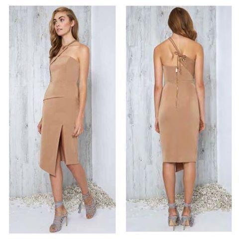 Premonition Designs - Vision Dress Tan By Premonition The Label
