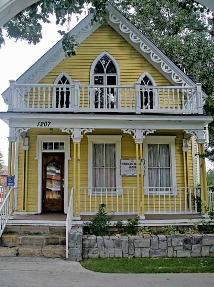 Gothic revival yellow and orange pinterest for Gothic revival home