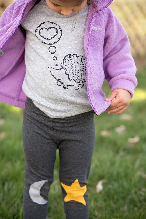 Moon and Star Kids and Baby Leggings.Trendy by HappyCampersShop