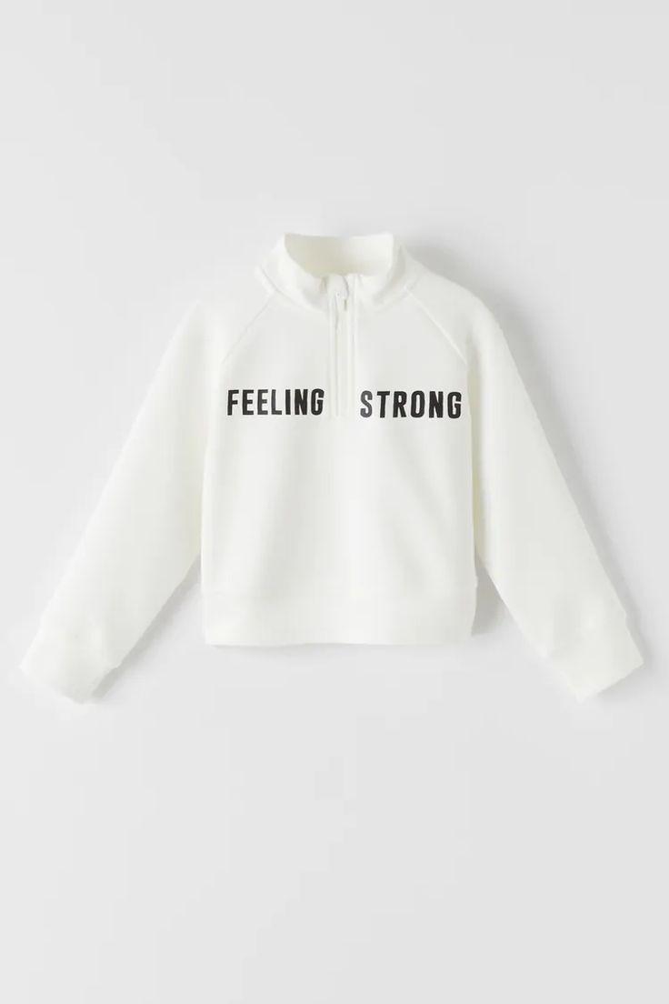 View All Sweatshirts Girl Kids Zara United States Sudaderas Para Niños Sudaderas Ropa Para Niñas Fashion