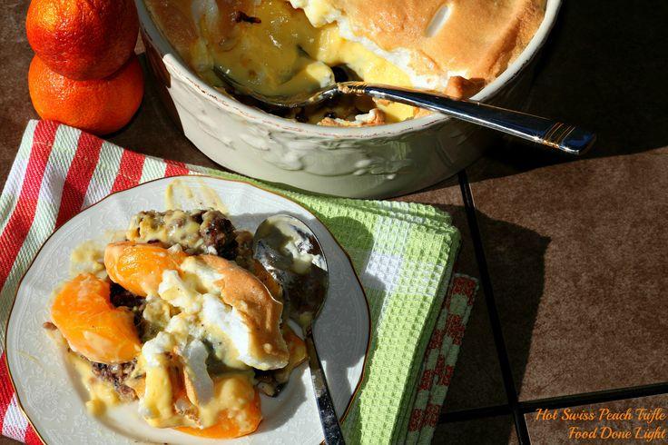Hot Swiss Peach Trifle   food done light