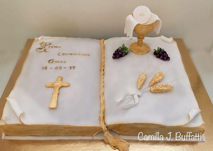 Torta Prima Comunione - Libro - Bibbia  - le dolci creazioni di Camilla Jesholt Buffatti
