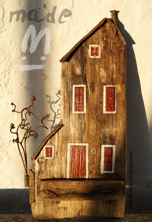 26 mejores im genes sobre houses casas con tacos de for Casitas madera decoracion