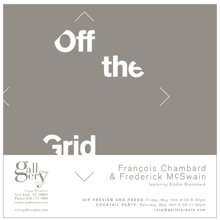 Off the Grid by François Chambard & Frederick McSwain | Gallery RPure
