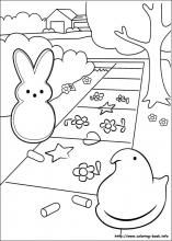 marshmallow peeps coloring pages on coloring bookinfo lots of peeps coloring pages