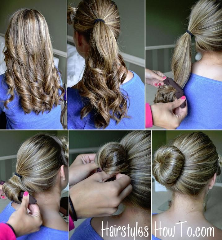 how to do a simple hair bun using the sarah potempa wrap up