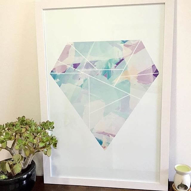 Diamond #print by @styladesign
