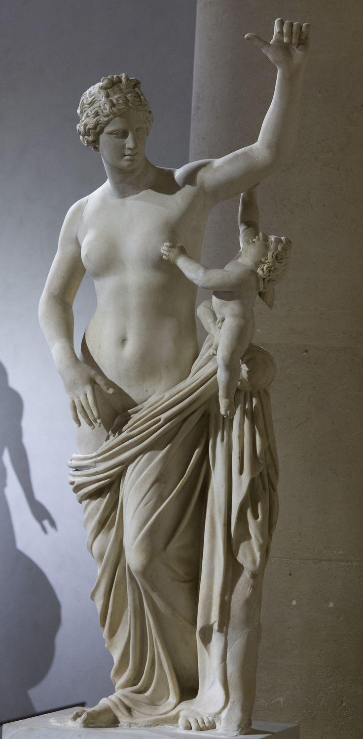 Venus and Cupid, Roman,1st century AD-2nd century AD,marble.
