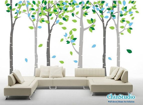 Birch Forest  Wall Decal Vinyl Wall Tree Stickers  6 by ChinStudio, $119.00