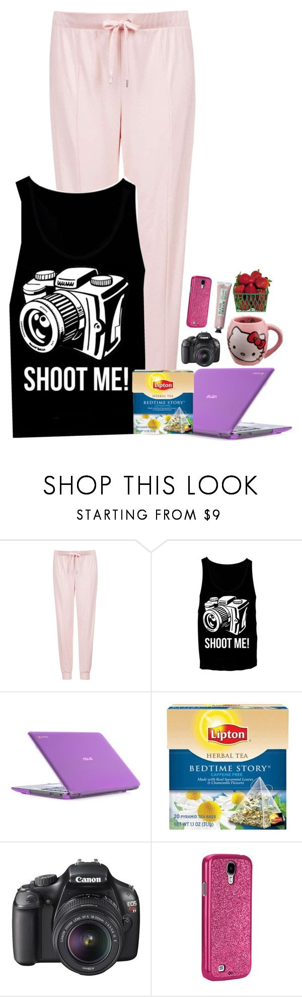 """Untitled #965"" by emmzizleez888 ❤ liked on Polyvore featuring Topshop, ASUS, Lipton, Canon, Hello Kitty, AG Adriano Goldschmied and vintage"
