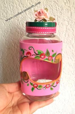 Manualidades como reciclar frascos de vidrio : cositasconmesh