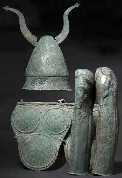 Samnite armor, Bronze. 4th cent. BCE