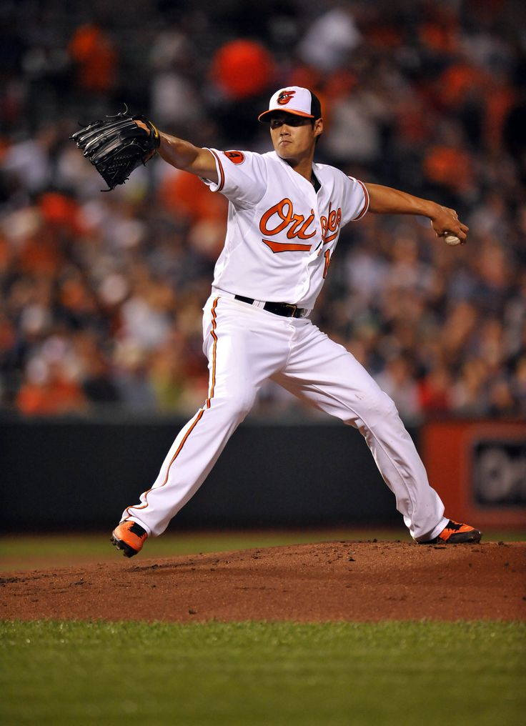 CrowdCam Hot Shot: Baltimore Orioles starting pitcher Wei-Yin Chen throws in the first inning against the New York Yankees at Oriole Park at Camden Yards. Photo by Joy R. Absalon