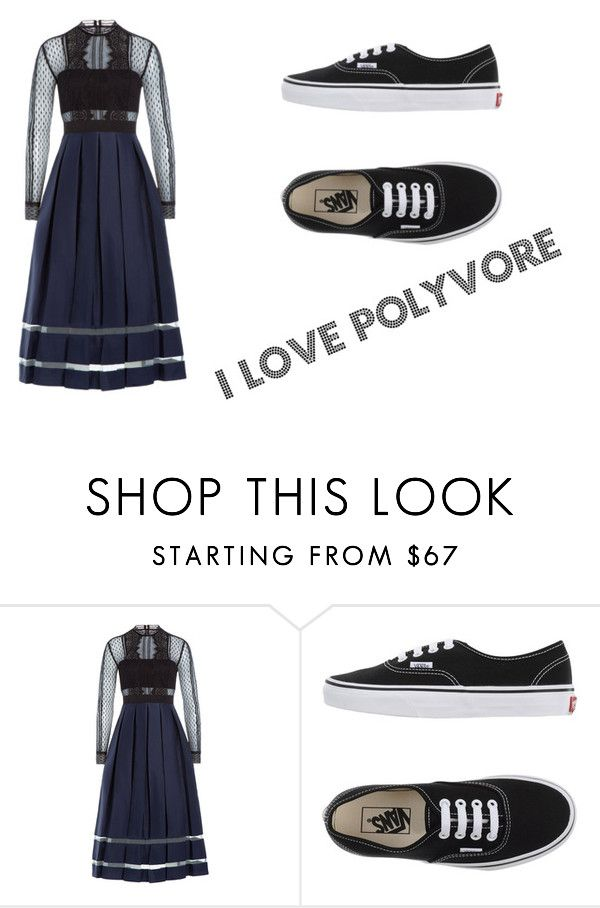 dancing by alicejudo on Polyvore featuring mode, self-portrait and Vans