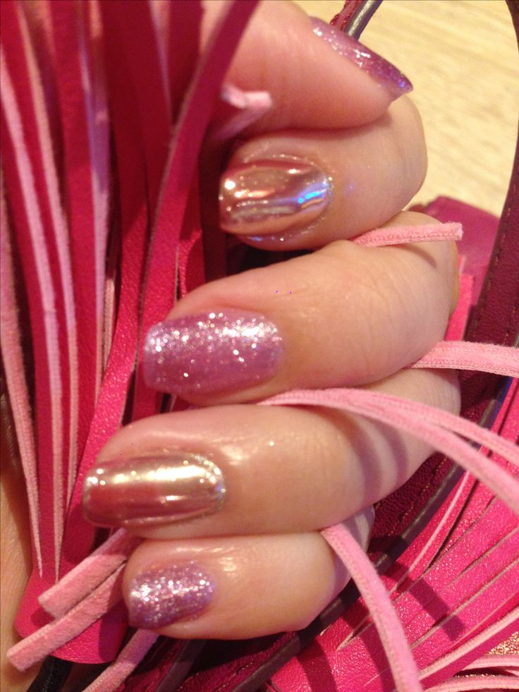 Mirror and glitter nail gel
