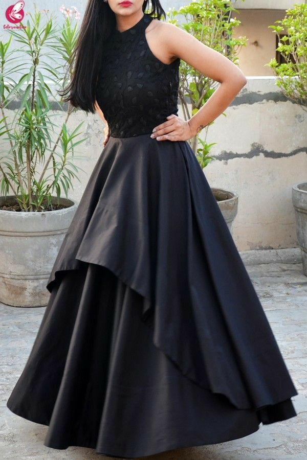 Black Gown Party Dresss One Piece Long Gown Dress Fashion Dress Party Indian Gowns Dresses