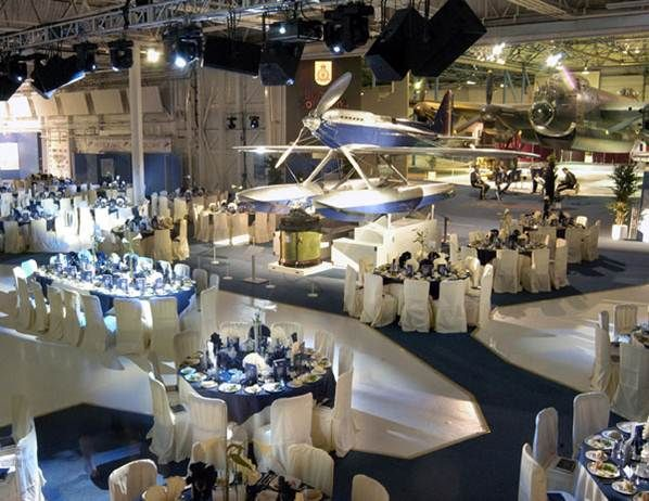 airplane hanger/ museum for reception #LuxBride
