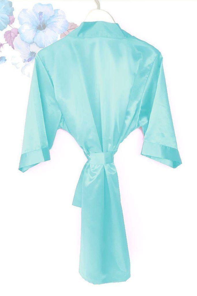 d562d5d94901 Robins Egg Blue Satin Kimono Robe in 2019