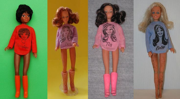 disco girls dolls by matchbox - Domino, Dee, Tia & Britt