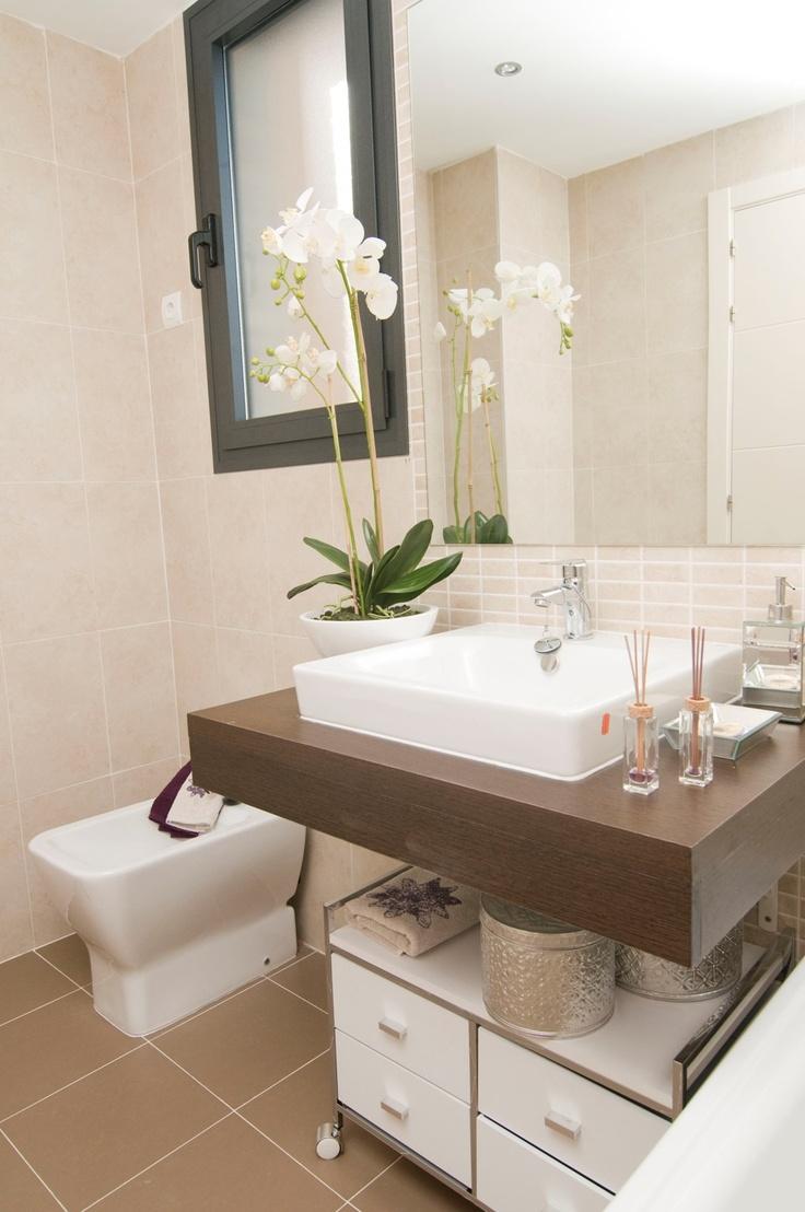 El baño principal de nuestro piso piloto en Residencial Célere Tres Cantos #Madrid