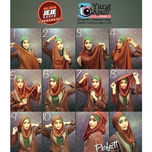 4 Tutorial Hijab Pesta Elegan dan Mudah