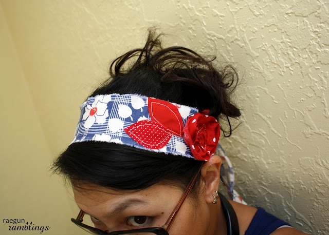 Scrappy Happy Fabric Headband Tutorial