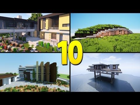 10 MINECRAFT MODERN HOUSES - Amazing Minecraft Builds - http://freetoplaymmorpgs.com/minecraft/10-minecraft-modern-houses-amazing-minecraft-builds