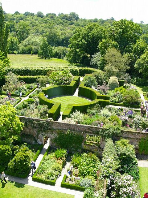 View of Sissinghurst garden rooms from the tower. One of the 16 gardens we will…