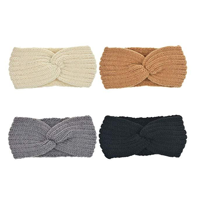 Dreshow 4 Stuck Damen Schleife Design Stirnband Winter Kopfband