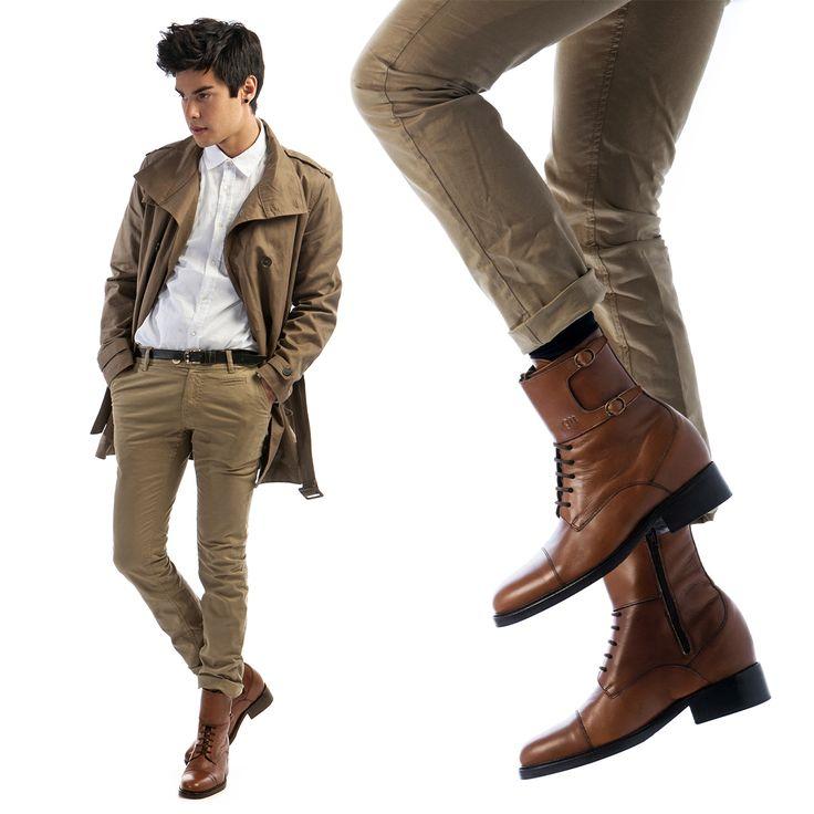 Il fashion blogger #ViniUehara indossa le scarpe rialzate modello #NottingHill. Stivali con rialzo interno GUIDOMAGGI