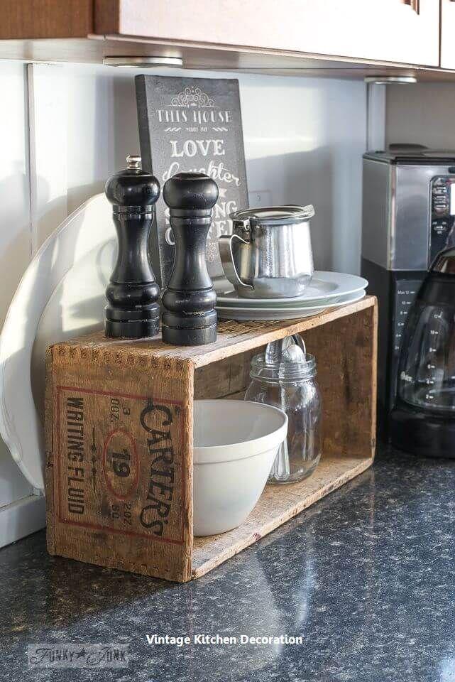 New DIY Vintage Ideas For Kitchen #vintagekitchendecor ...
