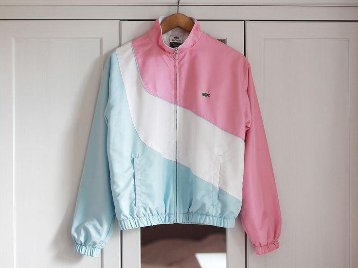 LACOSTE Vintage 1990s Windbreaker Activewear Sweatshirt Jacket