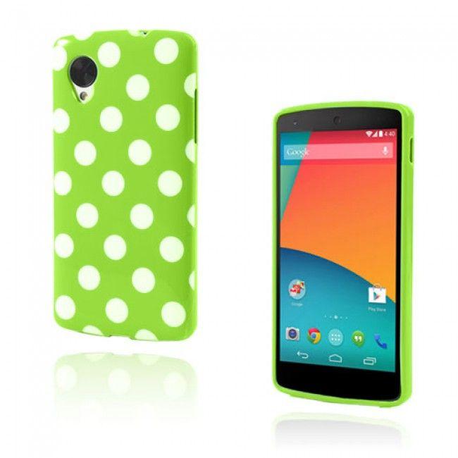 Polka Dots (Vihreä) Google Nexus 5 Suojakuori - http://lux-case.fi/catalog/product/view/id/23518/s/polka-dots-green-google-nexus-5-cover/