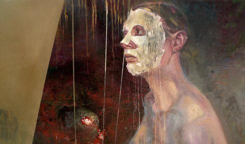 porczyńska, rites de passage fragment oil on canvas 2016