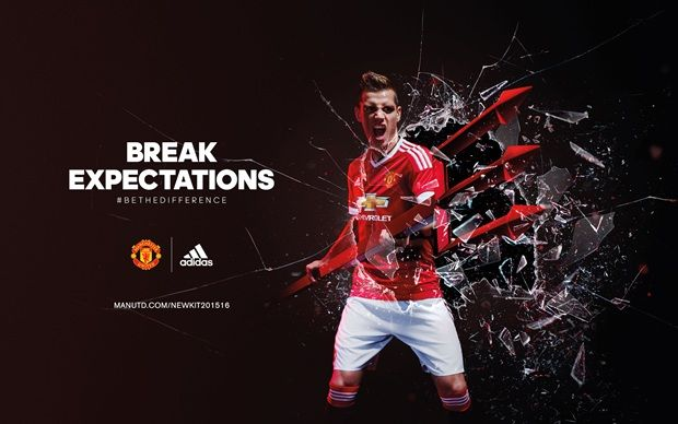 Built to break expectations. The 2015/16 Manchester United home jersey.  #BeTheDifference