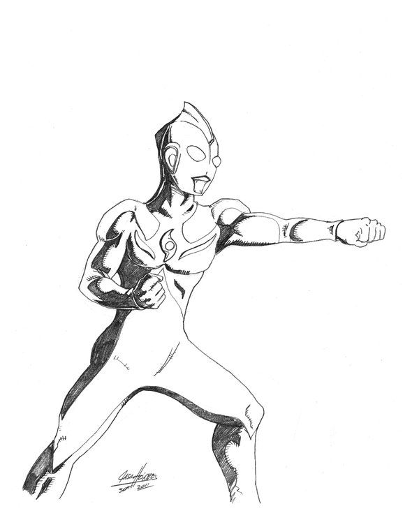 Ultraman Cosmos By Onore Otaku Deviantart Com On Deviantart Coloring Pages Ultraman