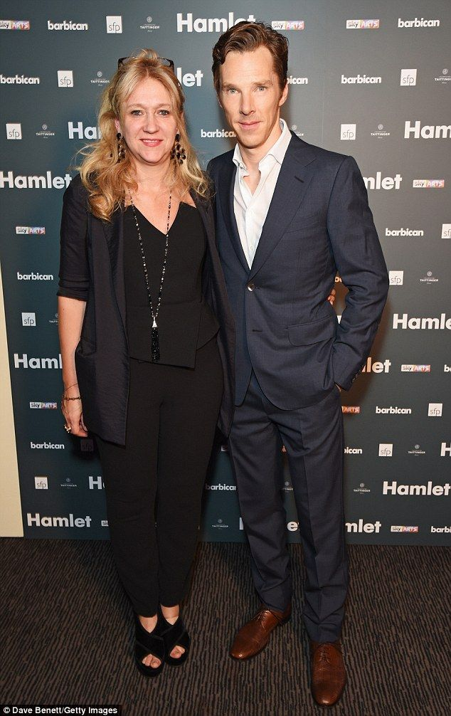 Behind the scenes talent: The leading man joined producer Sonia Friedman at the photocall...