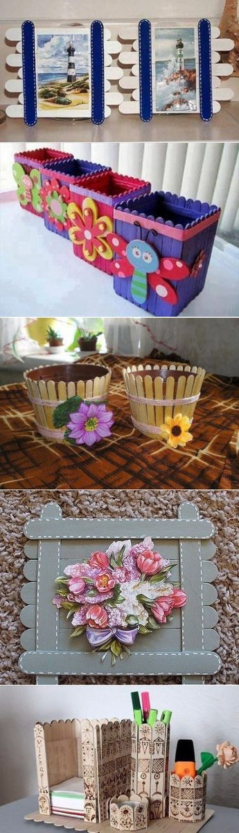 Crafts from sticks of ice cream!
