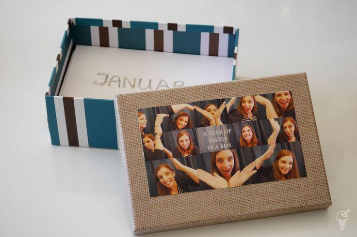 One Year Of Dates in a Box. Geschenk für den Partner