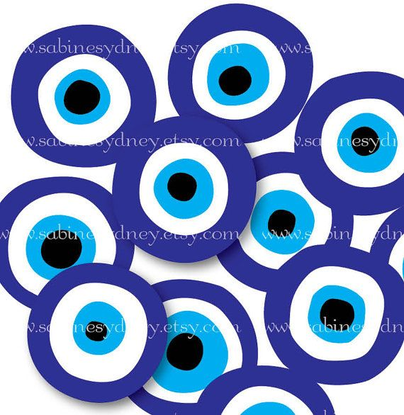 1 Inch Isch Circles  Nazar   Evil Eye Protection  by ImageArts, $3.99