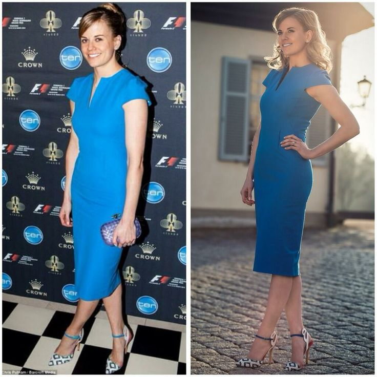 Susie Wolff @Susie_Wolff :From photo shoot to Australian GP Welcome Party. My Martini blue