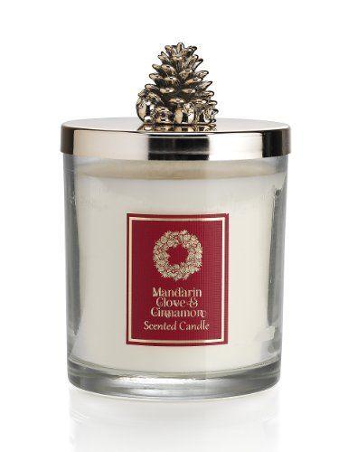 Mandarin, Cinnamon & Clove Lidded Large Filled Candle-Marks & Spencer